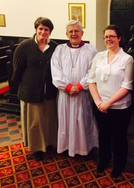 Ribchester Parishoners are confirmed at Great Mitton with the Bishop
